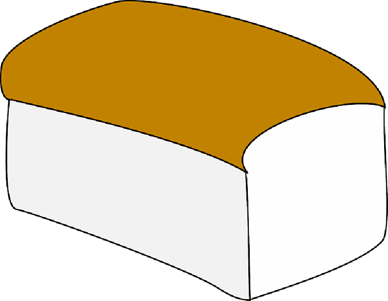 800x620 Food, Slice, Bread, Outline, Drawing, White, Cartoon