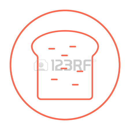 450x450 Single Slice Of Bread Icon Thin Line For Web And Mobile, Modern