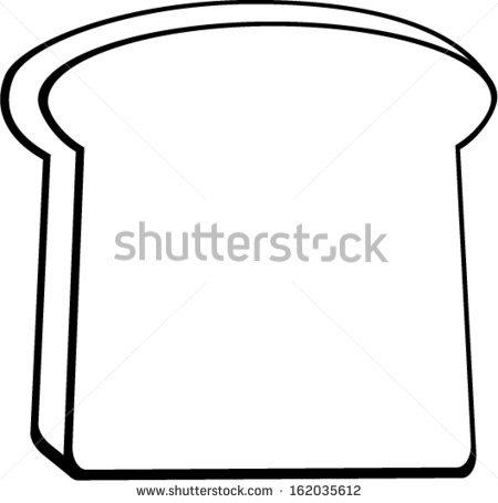 450x455 Slice Of Bread Clipart Black And White Clipart Panda