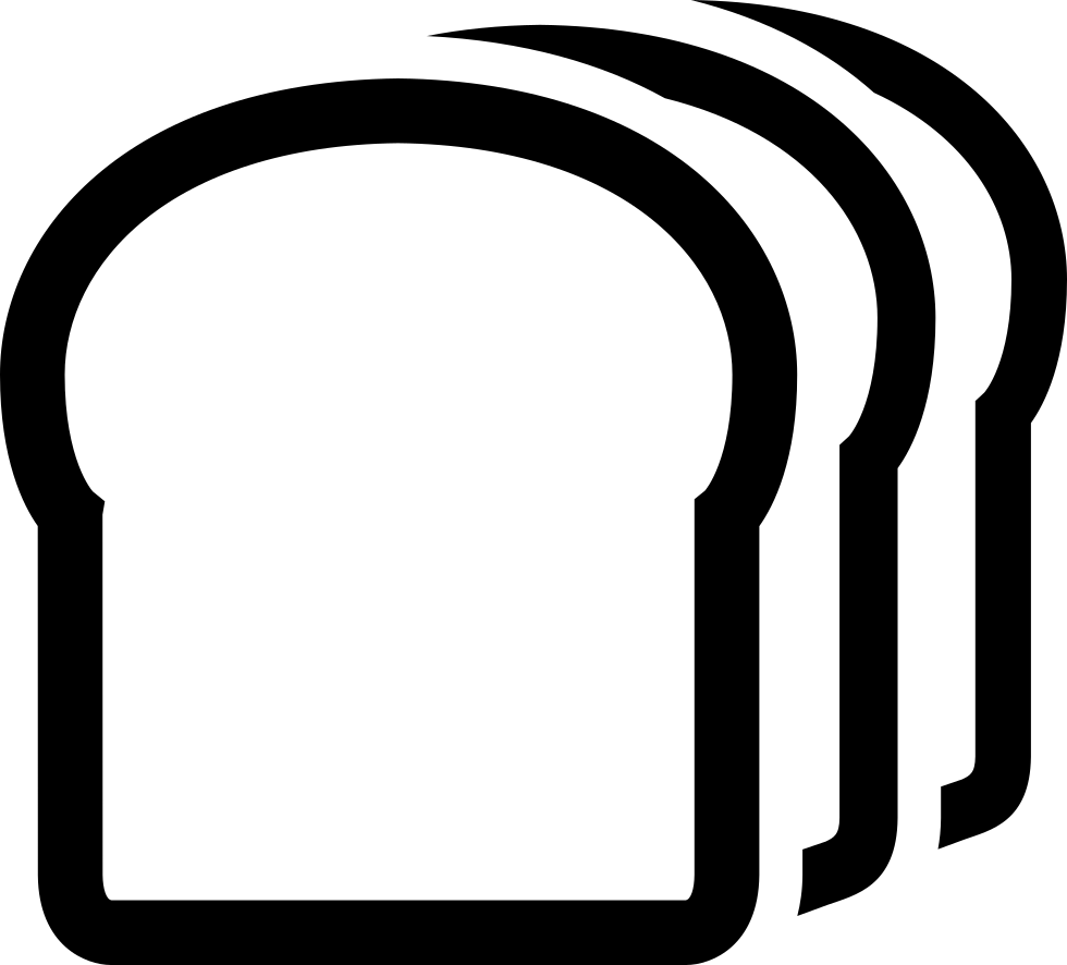 980x886 A Slice Of Bread Svg Png Icon Free Download ( 181874