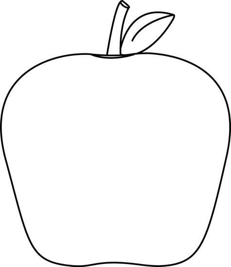 475x550 Apple Clipart Black And White