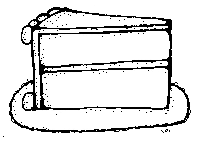 837x597 Cake Black And White Slice Of Cake Black And White Clipart