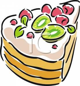 278x300 Slice Of Cake Clip Art Image