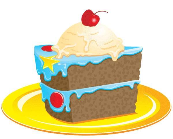 600x482 Birthday Cake Slice Clip Art