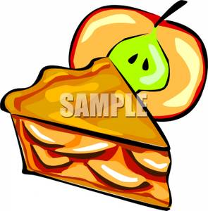 295x300 Slice Of Fresh Apple Pie Clipart Picture