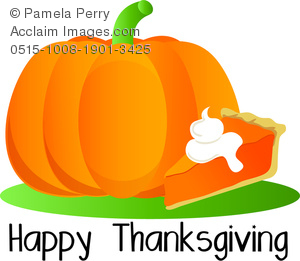 300x261 Art Image Of A Thanksgiving Graphic Of A Pumpkin And Slice Of Pie