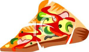 300x175 Art Image A Vegetable Combination Pizza Slice