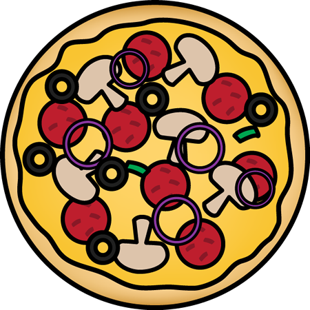 450x450 Clip Art Of Pizza