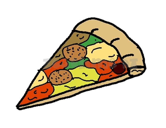688x528 Cheese Pizza Clip Art