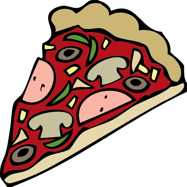 600x600 Pizza Slice Clip Art