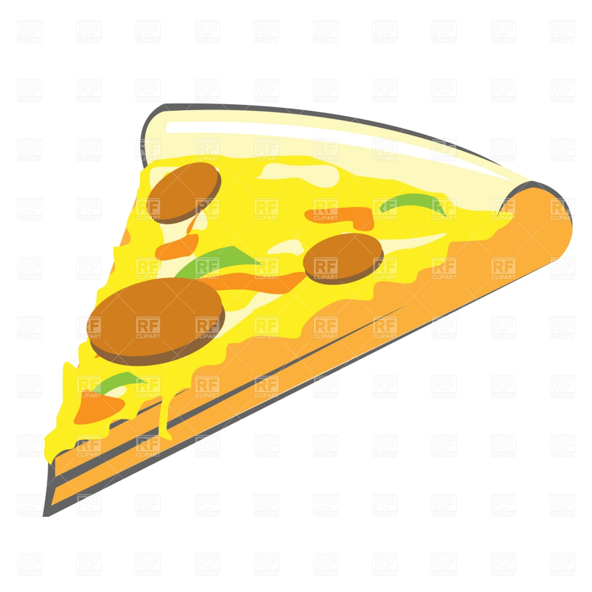 1200x1200 Pizza Slice Royalty Free Vector Clip Art Image