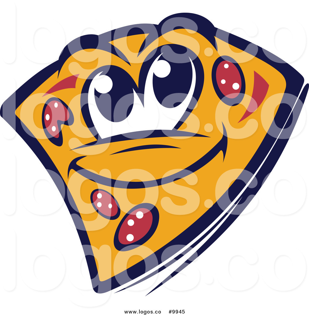 1024x1044 Royalty Free Clip Art Vector Logo Of A Happy Pizza Slice Mascot By