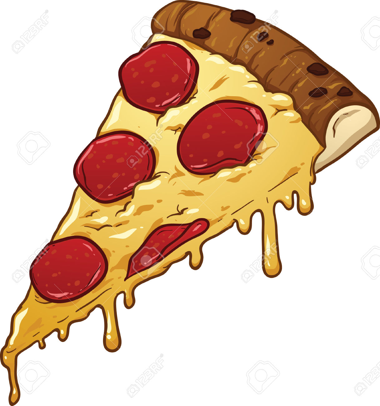 1217x1300 Salami Pizza Slice Clipart