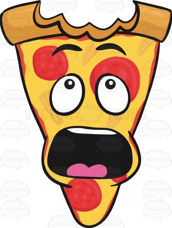 602x800 Slice Of Pepperoni Pizza Shocked With Big Bite Mark On Crust Emoji