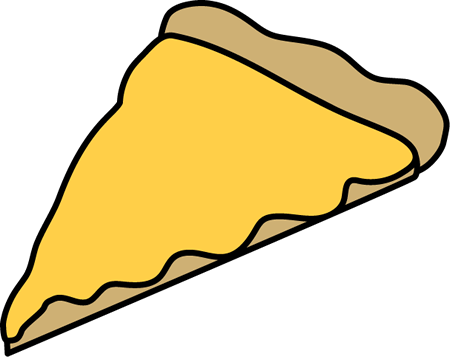 450x357 Cheese Pizza Slice Clip Art