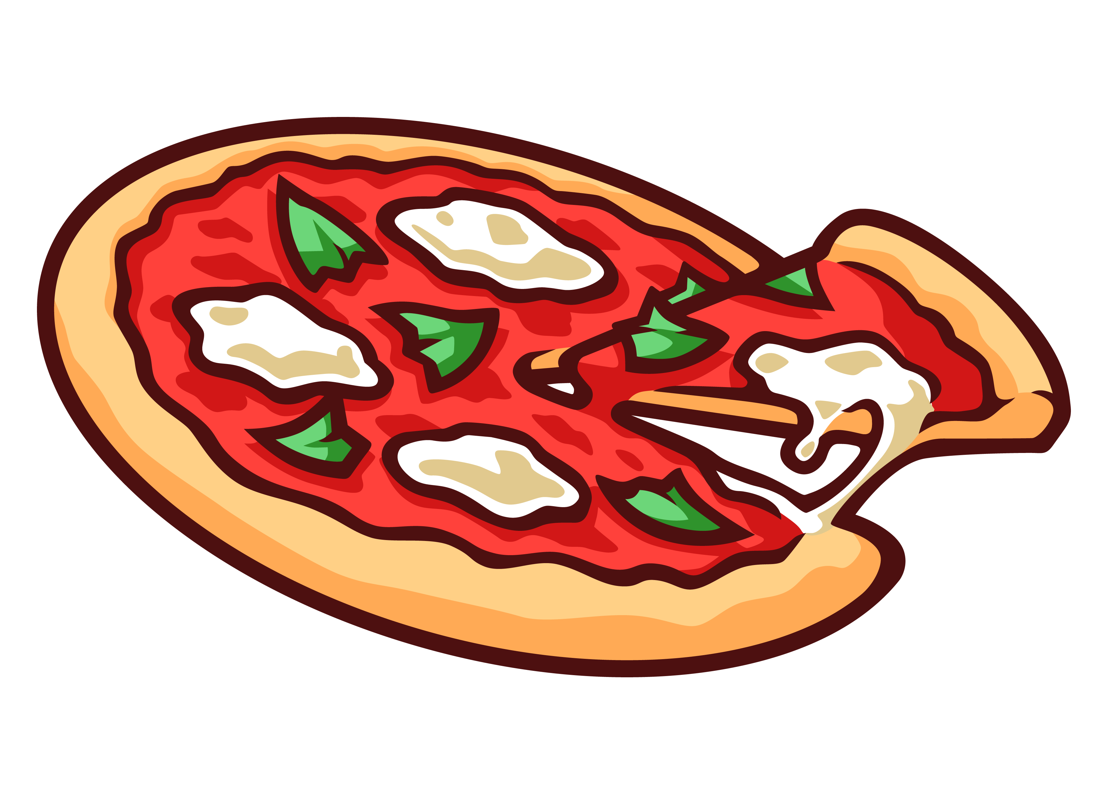 3579x2551 Veggie Pizza Clipart Free Vector Pizza Slice Mushroom Veggies Pepp