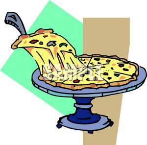 300x296 Cheesy Slice Of Pizza Clip Art Image