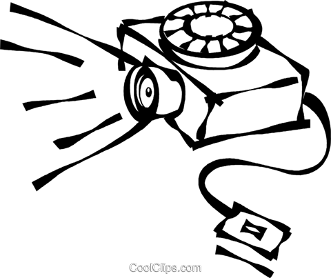 480x403 Slide Projector Royalty Free Vector Clip Art Illustration