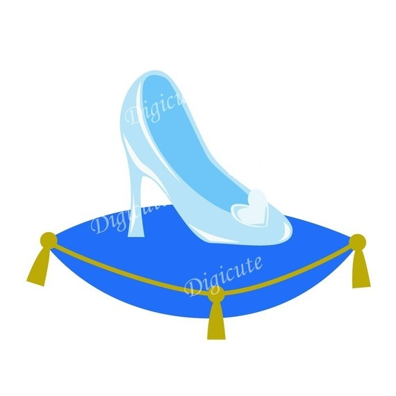 570x570 Glass Slipper Clip Art