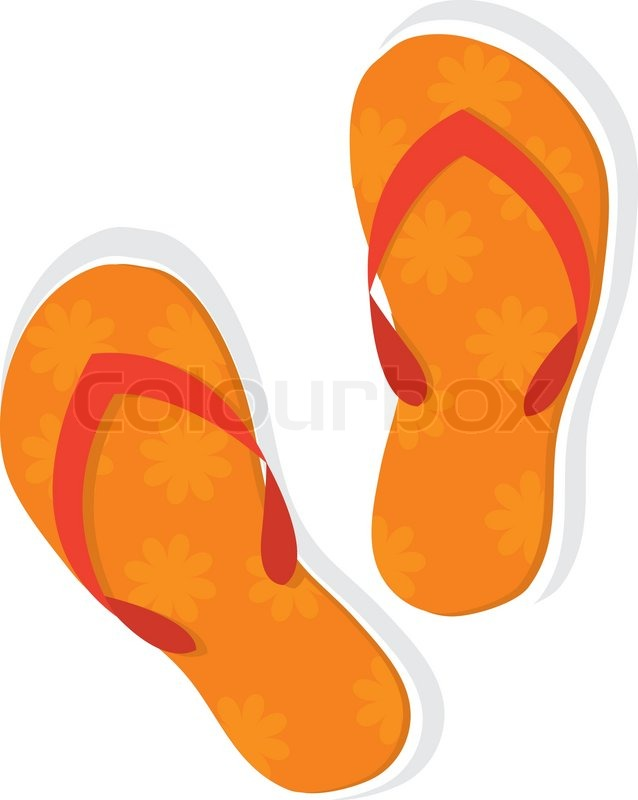638x800 Orange Clipart Slipper