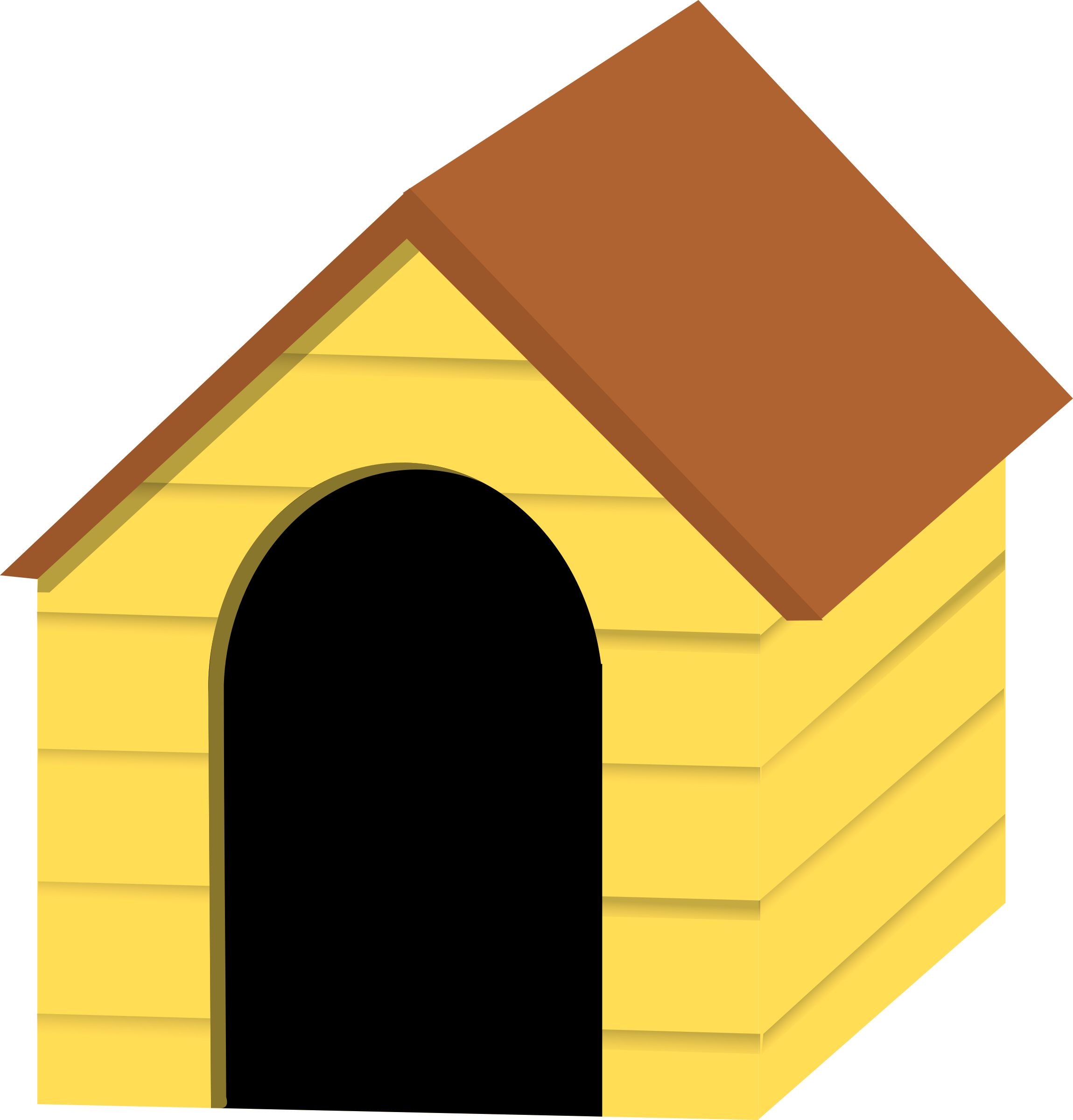 2299x2400 Free Dog House Clipart Image