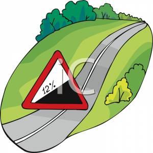 300x300 Hill Upwards Caution Sign