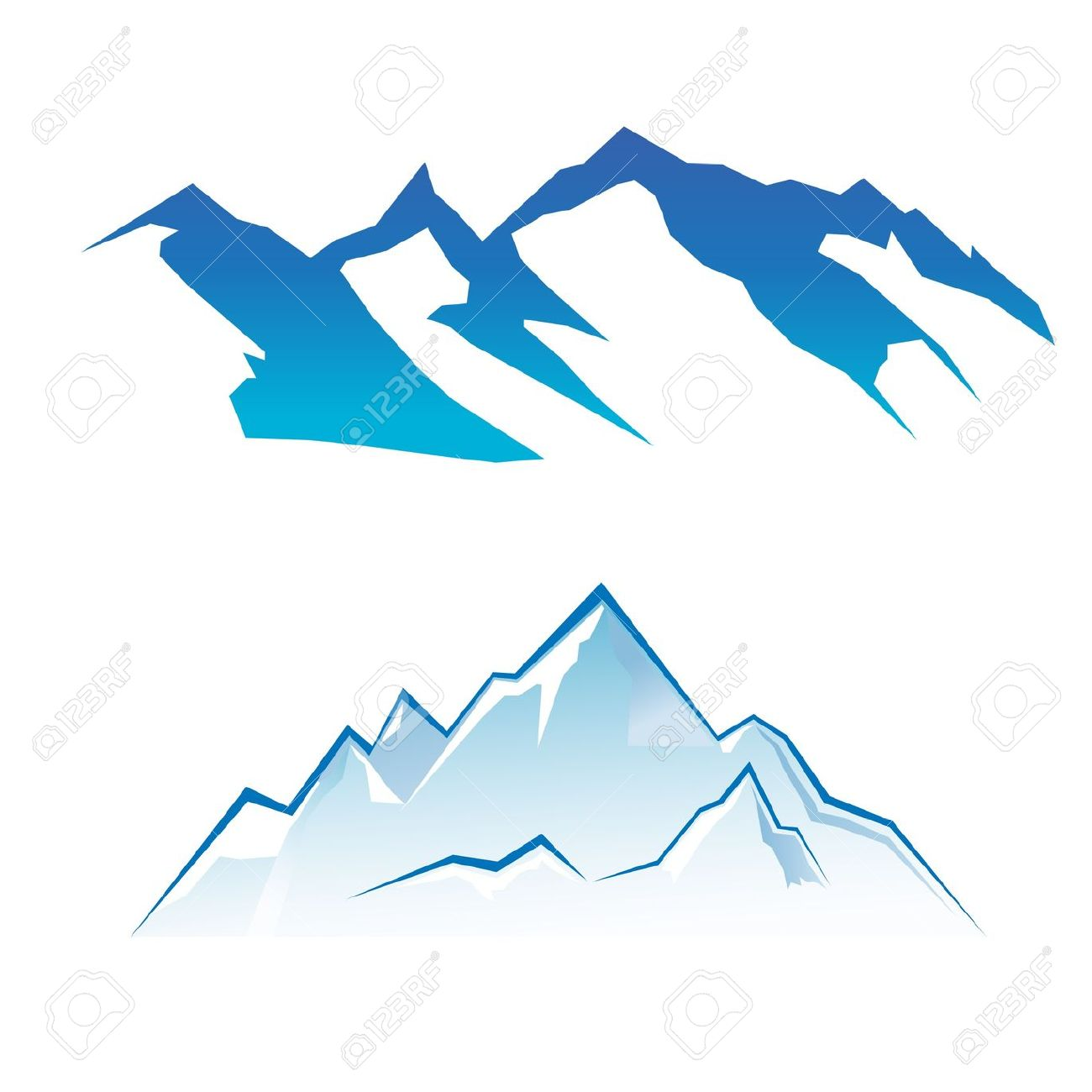 1300x1300 Mountain Clipart Slope