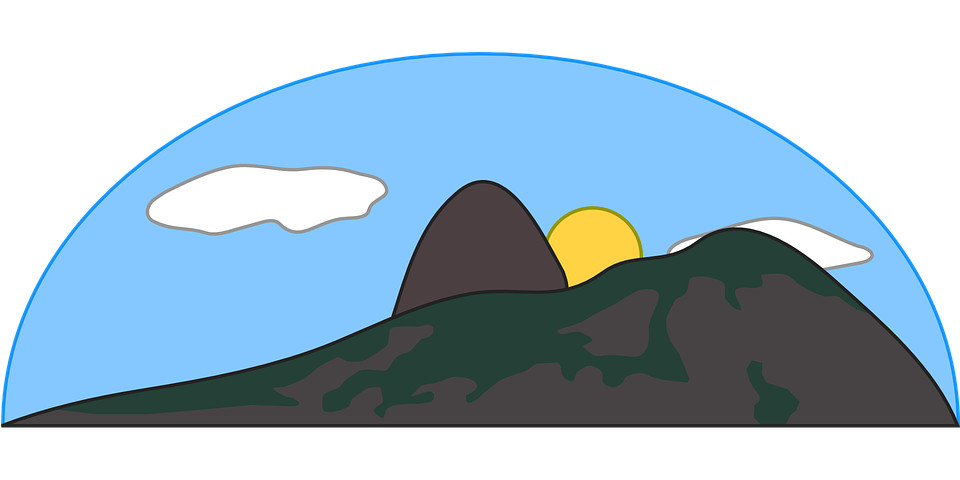960x480 Mountain Clipart Slope