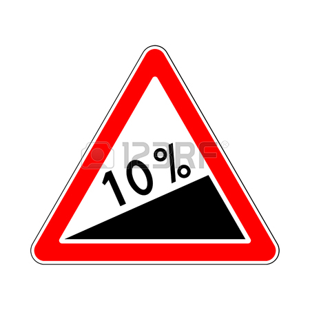 450x450 Traffic Road Sign Steep Climb Or Steep Slope Royalty Free