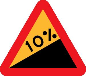 300x266 Upward Gradient Roadsign Clip Art