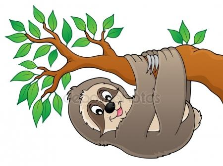 450x336 Smiling Sloth Stock Vectors, Royalty Free Smiling Sloth