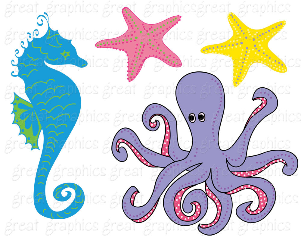1000x800 Under The Sea Party Clipart Under The Sea Printable Party Digital
