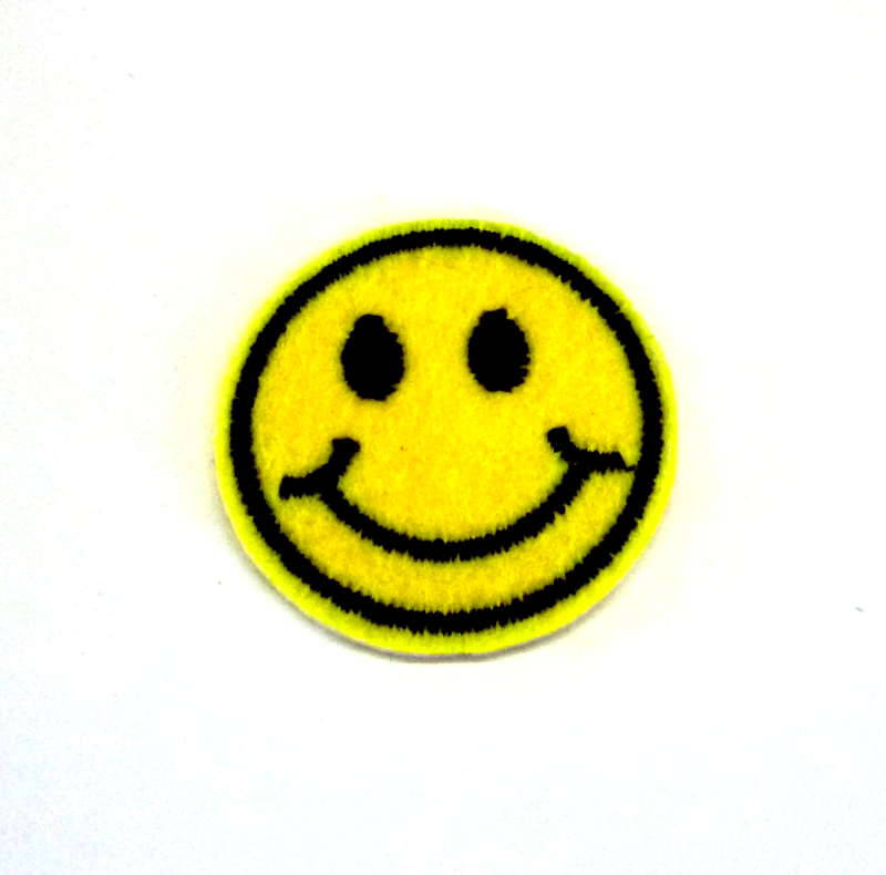800x790 Small Smiling Face Emoji Iron On Patch, Smiling Face Patch, Emoji