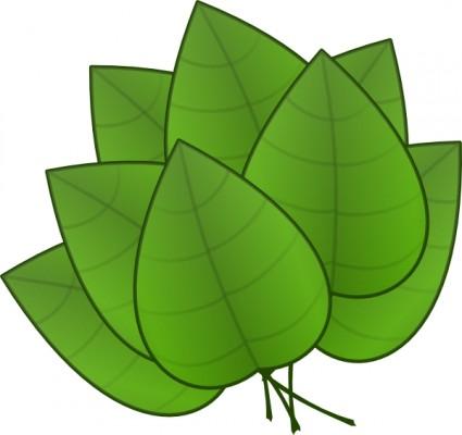 425x400 Green Leaf Clip Art