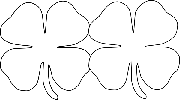 600x333 4 Leaf Clover Four Leaf Clover Clip Art