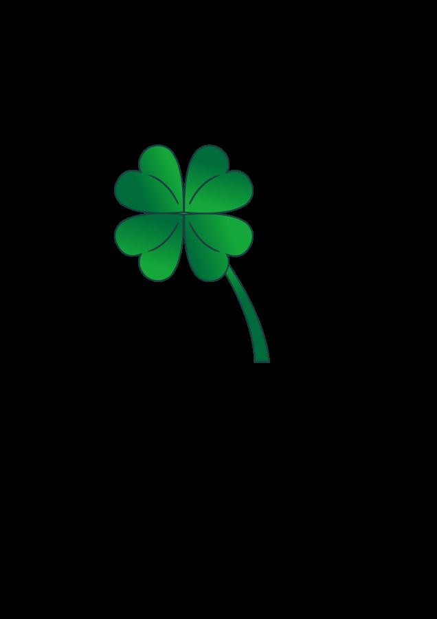636x900 Small Four Leaf Clover Clip Art
