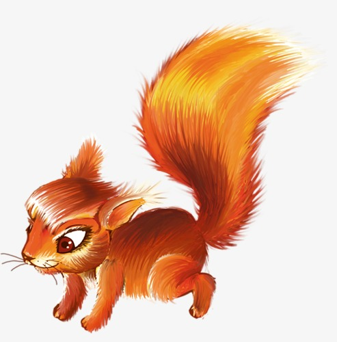 493x500 Beautiful Squirrel, Squirrel, Small Pets, Cartoon Animals Png