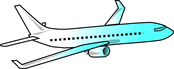600x240 Airplane Clipart Vector