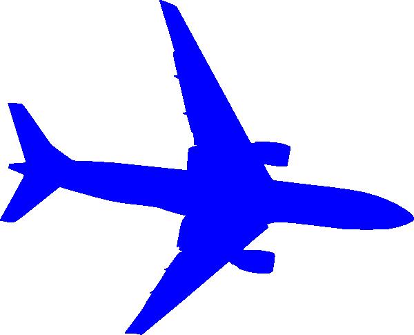 600x485 Blue Plane Clip Art