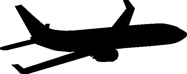 600x240 Plane Silhouette Clip Art