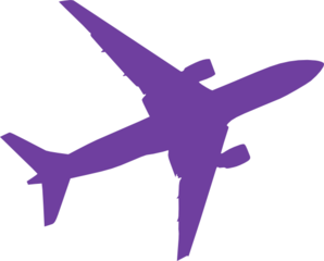 298x240 Small Purple Airplane Clip Art