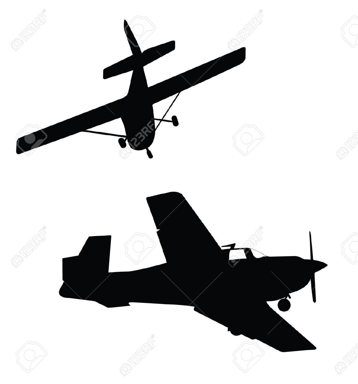 1213x1300 Small Plane Silhouette