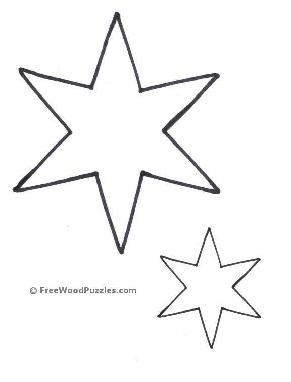 modern small star template printable mold example resume ideas