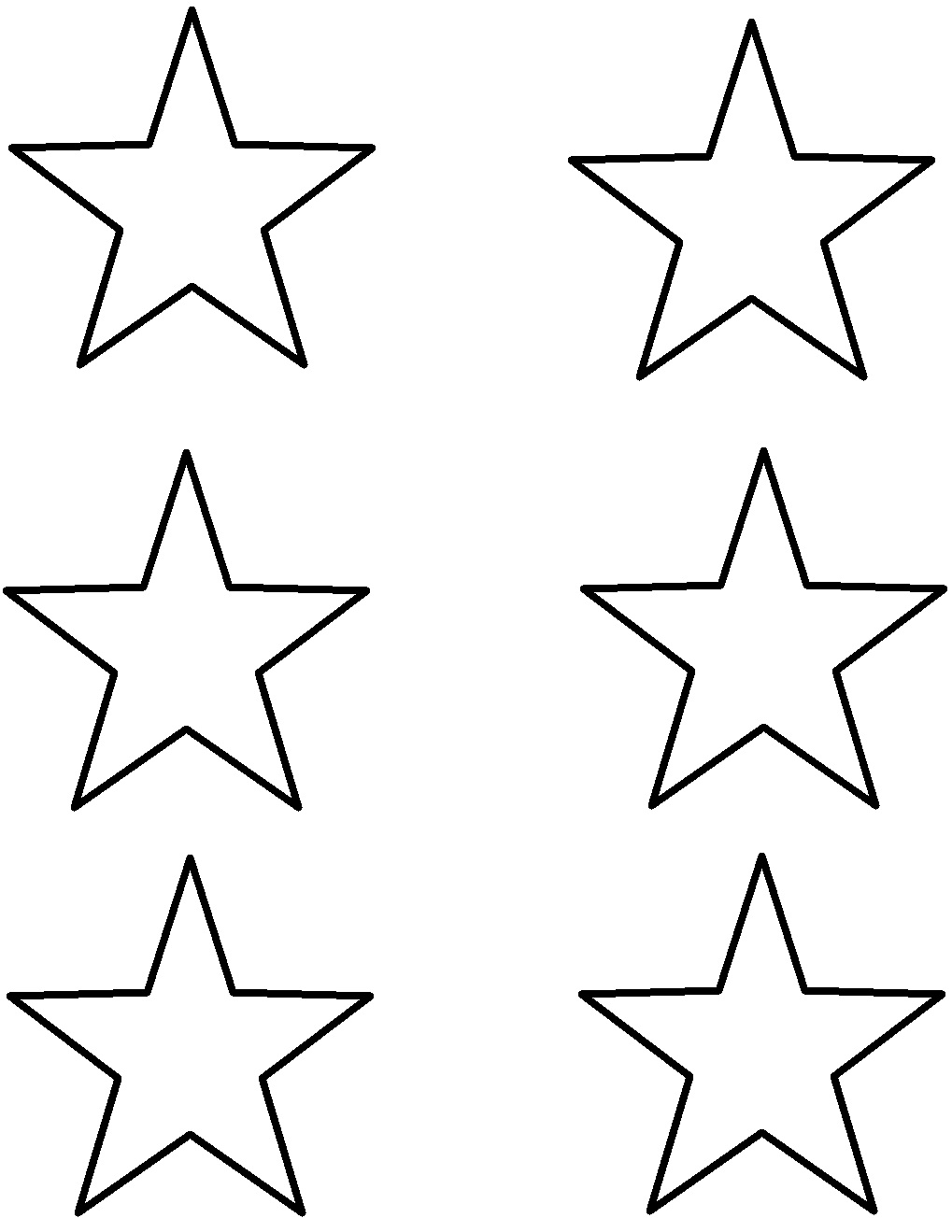 picture about Star Outline Printable known as Minimal Star Determine Totally free obtain suitable Minor Star Determine