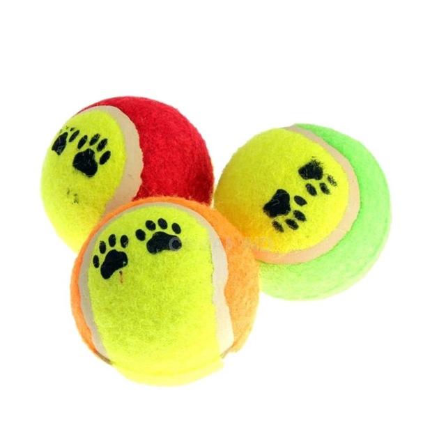 640x640 Cute Tennis Balls Run Fetch Throw Play Toy Chew Dog Toy, Small