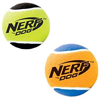 355x355 Pet Supplies Nerf Dog X Small Squeak Tennis Balls Dog Toy (4