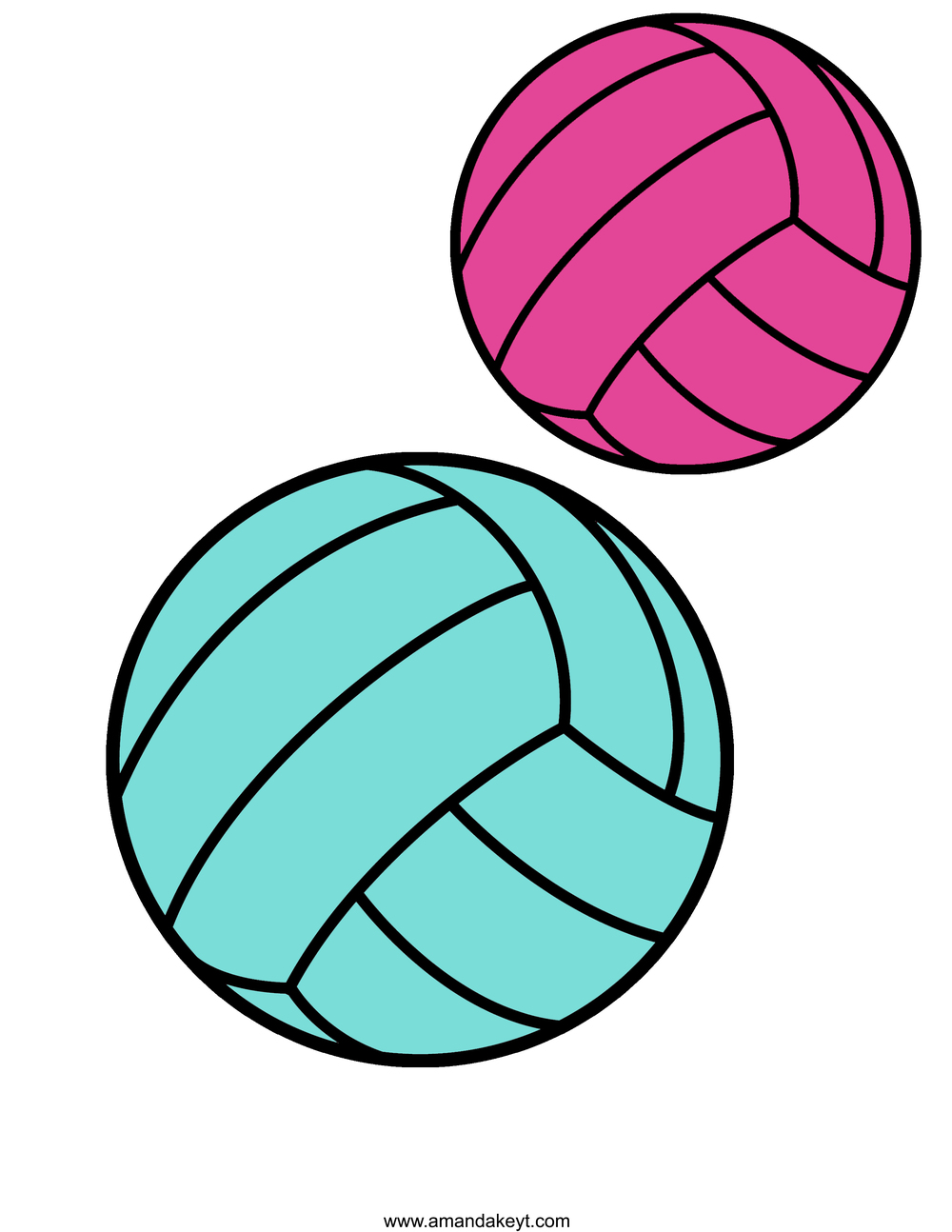 1000x1294 Instant Download Volleyball Pink Amp Teal Printable Photo Booth Prop
