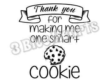 photograph about Thanks for Making Me One Smart Cookie Free Printable titled Intelligent Cookie Clipart Cost-free obtain great Wise Cookie