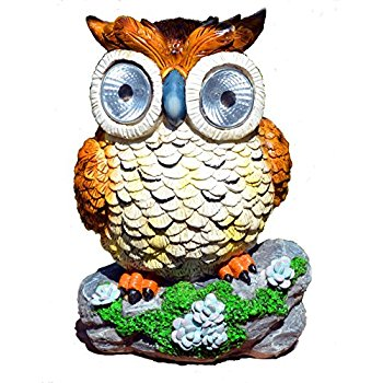 350x350 Smart Solar 3563wrm2 Solar Owl Accent Lights, Set