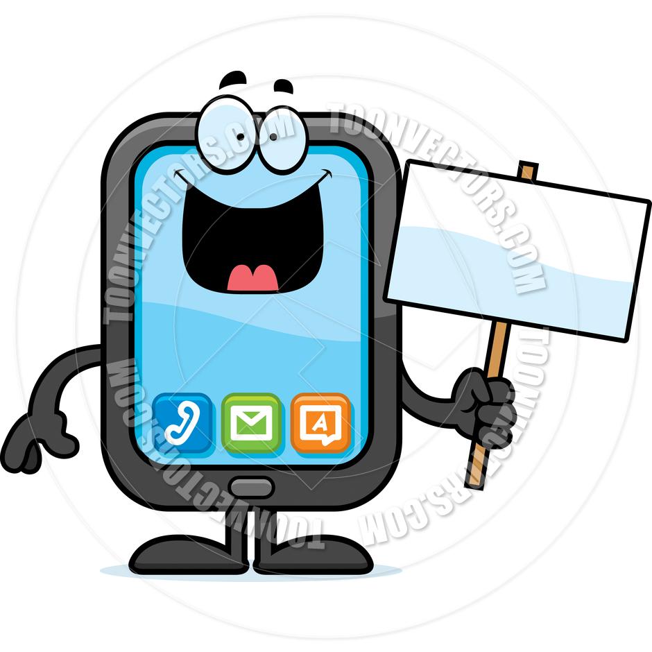 940x940 Cartoon Of Smartphone Clipart